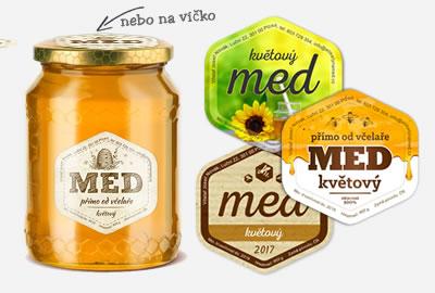 Vlastní etikety na med